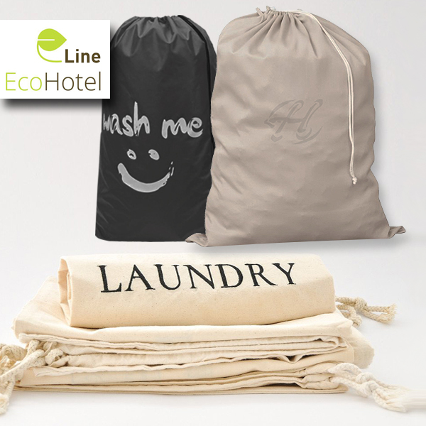 Hotel cotton laundry bags