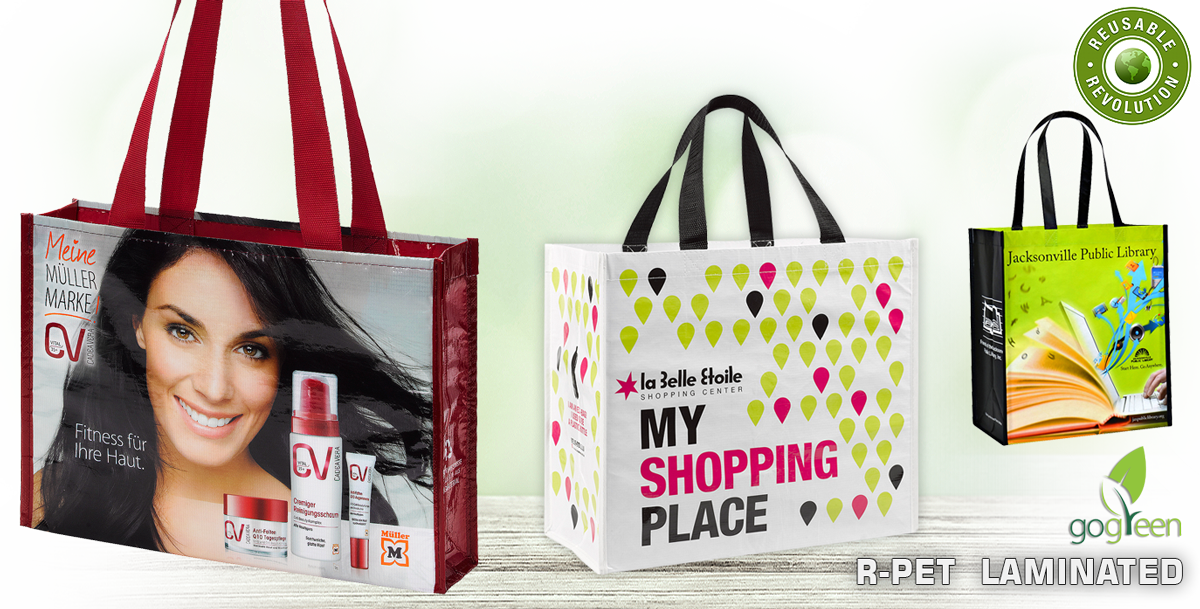 rPET Reusable Shopping Bags - Eco friendly